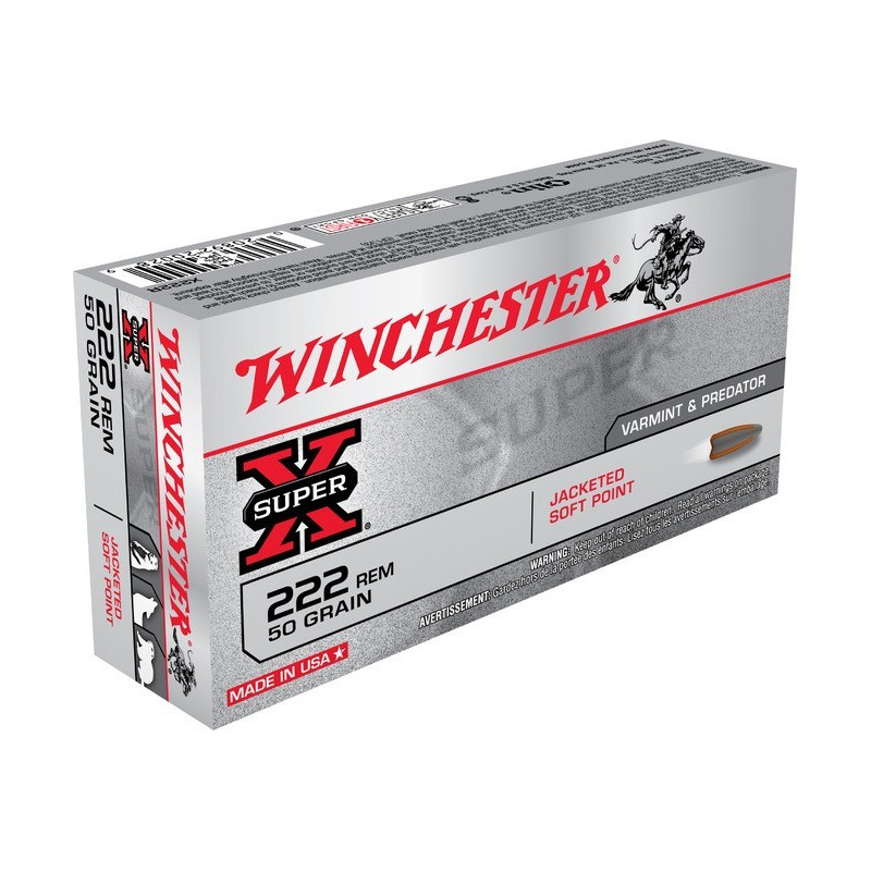 Winchester 222 rem. Soft point