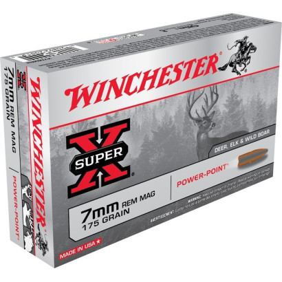 Boite de balles Winchester 7mm REM Power point